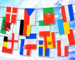 Flaggen Kette Fußball EM 2020 groß