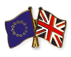 Freundschaftspins Europa-Großbritannien