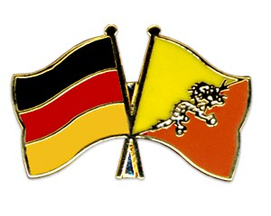 Freundschaftspins Deutschland-Bhutan