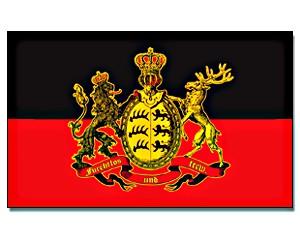Stock-Flagge Württemberg - furchtlos und treu