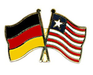 Freundschaftspins Deutschland-Liberia