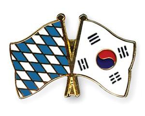 Freundschaftspins Bayern-Südkorea