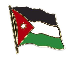 Flaggen-Pins Jordanien