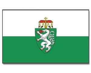 Stock-Flagge Steiermark mit Wappen