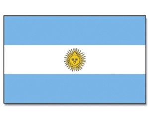 Stock-Flagge Argentinien