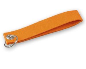 Filz Schlüsselanhänger orange
