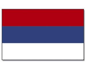 Stock-Flagge Serbien