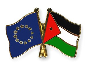 Freundschaftspins Europa-Jordanien