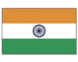 Stock-Flagge Indien