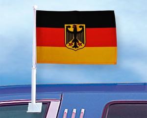Autoflagge Deutschland mit Adler