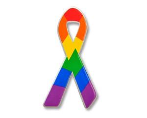Kühlschrankmagnet: Rainbow Ribbon horizontal