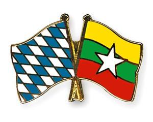 Freundschaftspins Bayern-Myanmar