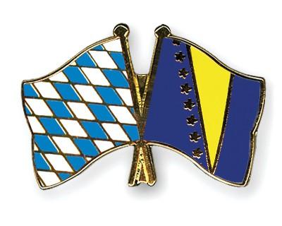 Freundschaftspins Bayern-Bosnien und Herzegowina