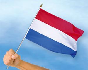 Stock-Flagge Niederlande