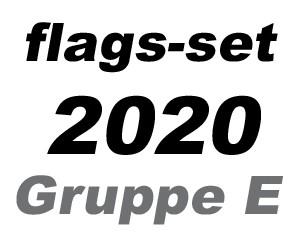Flaggen-Set Fußball EM 2020 Gruppe E: 4 Flaggen 90 x 150 cm