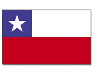 Stock-Flagge Chile
