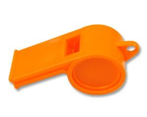 Trillerpfeife Orange