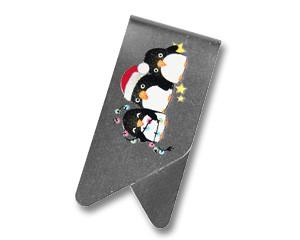 Büroklammer DeltaClips Die Weihnachtspinguine - klein