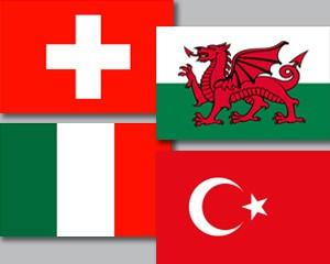 Flaggen Set Gruppe A Fußball EM 2020