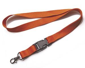 Schlüsselband 20 mm orange mit KSV