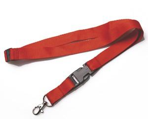 Schlüsselband 20 mm rot mit KSV und SV
