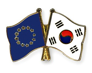 Freundschaftspins Europa-Südkorea