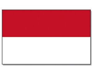 Flagge Indonesien