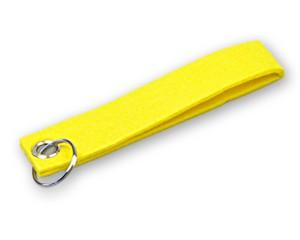 Filz Schlüsselanhänger gelb