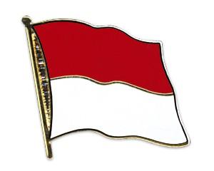 Flaggen-Pins Indonesien