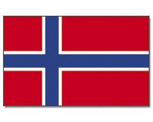 Stock-Flagge Norwegen