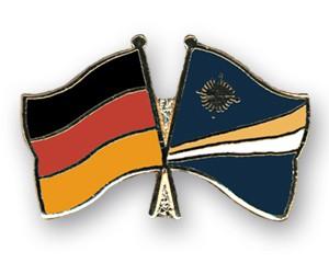 Freundschaftspins Deutschland-Marshallinseln