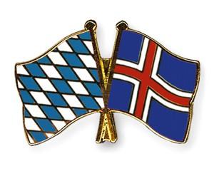 Freundschaftspins Bayern-Island