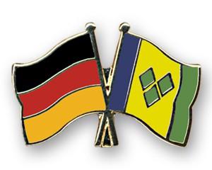 Freundschaftspins Deutschland-St. Vincent und die Grenadinen