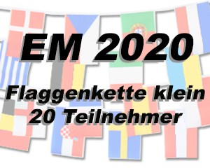 Flaggen Kette Fußball EM 2020 klein