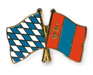 Freundschaftspins Bayern-Mongolei