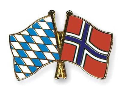 Freundschaftspins Bayern-Norwegen