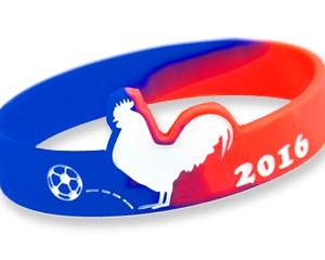 Silikonarmband France 2016 ein Hahn