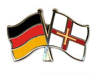 Freundschaftspins Deutschland-Guernsey