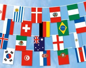 Flaggen Kette Fußball WM 2018 groß