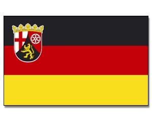 Stock-Flagge Rheinland-Pfalz