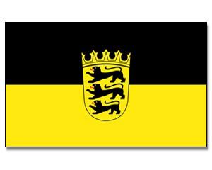 Stock-Flagge Baden-Württemberg