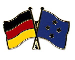 Freundschaftspins Deutschland-Mikronesien