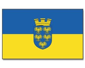Stock-Flagge Niederösterreich mit Wappen