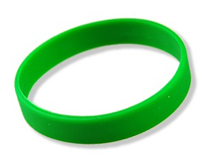 Silikonarmband Grün