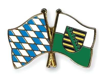 Freundschaftspins Bayern-Sachsen