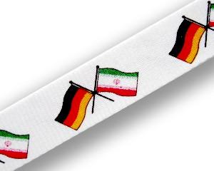 Freundschafts-Schlüsselbänder Deutschland-Iran