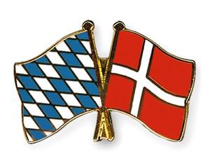 Freundschaftspins Bayern-Dänemark