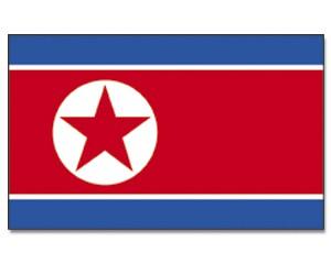 Stock-Flagge Nordkorea