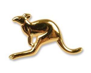 Pins Känguru goldfarben 13 mm