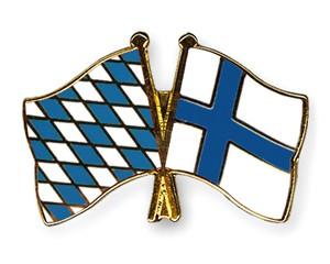 Freundschaftspins Bayern-Finnland